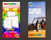 Custom Printed Even-Glow LED Panel Light - 2' x 4': Showing Custom Artwork Panels.