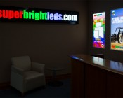 Even-Glow LED Panel Light - Balloon 2 LUXART Print - 2' x 4': Shown Used As Signs In Low Light.
