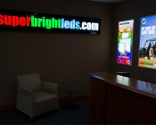 72W LED Panel Light Fixture - 4ft x 2ft: Shown Used As Signs In Low Light.
