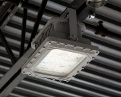 100 Watt LED Explosion Proof Light - Class 1 Div 1 and 2 Hazardous Locations - UL1598A - 13,000 Lumens: Close Up of Light Installed