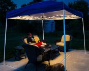 Portable Canopy Tent LED Lighting Kit: Installed in EZ-UP Tent Lighting Patio Furniture While Reading Outside