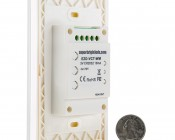 Wireless Variable Color Temperature LED Dimmer Switch for EZ Dimmer Controller: Back View with Size Comparison