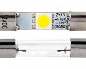 3AG Fuse LED Bulb - 1 SMD LED Festoon: Front View