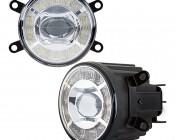 "3-1/2"" LED Projector Fog Lights Conversion Kit w/ Halo Daytime Running Lights - Toyota/Nissan - 500 Lumens"
