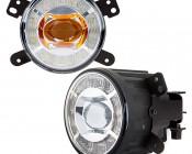 """3-1/2"""" LED Projector Fog Lights Conversion Kit w/ Halo Daytime Running Lights - Chrysler/Jeep/Dodge"""