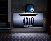 67 LED Bulb - 12 LED Forward Firing Cluster - BA15S Retrofit: Installed in Firetruck License Plate Light