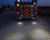 """LED Work Light - 6"""" Round Adjustable Spot Light w/ Handle - 12W - 1,350 Lumens: Installed on the Back of Firetruck as Spot Lights During Emergencies"""
