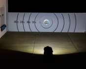 High Power 30W LED Flood Light Fixture with Motion Sensor: Beam Pattern On Target 30 Feet Away