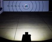 High Power 50W LED Flood Light Fixture: Beam Pattern From 50 Feet Away