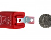FL2-RED LED Bulb Electronic Flasher: Back View