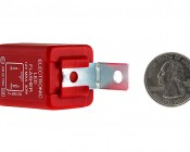 FL3-RED LED Bulb Electronic Flasher: Back View