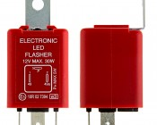 FL3-RED LED Bulb Electronic Flasher: Profile View