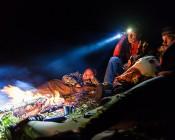 NEBO 90 Lumen Headlamp - Hands-Free LED Flashlight: Campers Using Flashlight To Check Fire