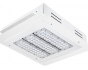LED Canopy Lights - 150W - Natural White - Flush Mount or Surface Mount - Square Beam Pattern: Shown with Flush Mount