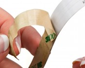 Peel and stick adhesive backing for easy installation