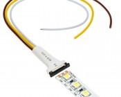 NFLS10-3CPT 3 Contact Pigtail Connector with NFLS-DW600 Dual Chip LED Variable Color Temperature LED Flexible Light Strip