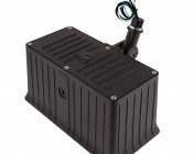 70 Watt Knuckle-Mount LED Flood Light - 6,800 Lumens: Back View