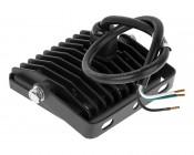 10 Watt LED Flood Light Fixture - Low Profile - 950 Lumens: Back View