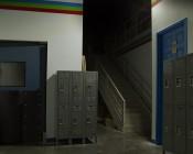 10 Watt LED Flood Light Fixture - Low Profile - 950 Lumens: Hallway Illuminated