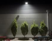 200 Watt LED Flood Light Fixture - Low Profile -  19,000 Lumens: Sitting Area Illuminated At Night