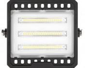 30 Watt LED Flood Light Fixture - Low Profile -  2,850 Lumens: Front View