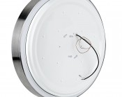 "15"" Flush Mount LED Ceiling Light w/ Brushed Nickel Housing - 150 Watt Equivalent - Dimmable: Back View"