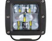 "LED Fog Light - 3"" Square - 13W - 1,700 Lumens: Front View"