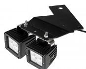 "LED Fog Light Brackets for Ford F-150 SVT Raptor - 3"" Square LED Auxiliary Work Lights: Attached"