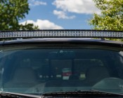 "50"" Off Road Curved LED Light Bar - 288W:  Installed On Top Of F250 With Mounting Brackets (Sold Separately)"
