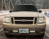 "7"" Slim Off Road LED Light Bars - 18W - 1,650 Lumens: Installed as Daytime Running Lights on Ford Truck"