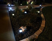 Front yard accent lighting