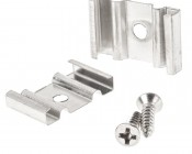 Pair of Mounting Clips for Flexible Surface Mount Aluminum LED Profile Housings