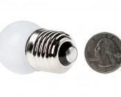 G11 LED Bulb - 8 SMD LED Globe Bulb: Back View
