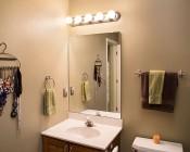 G30 LED Vanity Bulb w/ High CRI - 45 Watt Equivalent - Dimmable: Installed in Bathroom Vanity Mirror