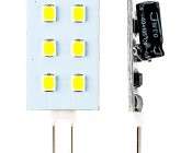 G4 LED Bulb - 15 Watt Equivalent - Bi-Pin LED Rectangular Bulb: Front & Profile View
