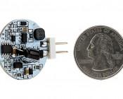 G4 LED Bulb - Dual Color - Bi-Pin LED Disc: Back View