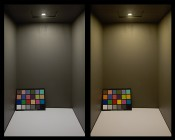 G4 LED Bulb - 35 Watt Equivalent - Bi-Pin LED Disc - 340 Lumens: Light Output/Color Comparison Natural White (Left) and Warm White (Right)