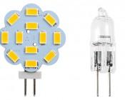 G4 LED Bulb - 35 Watt Equivalent - Bi-Pin LED Disc - 340 Lumens: Incandescent Size Comparison