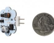 G4 LED Bulb - 35 Watt Equivalent - Bi-Pin LED Disc - 340 Lumens: Back View Quarter Size Comparison
