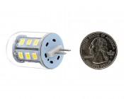 G4 LED Bulb - 35 Watt Equivalent - Bi-Pin LED Bulb - 320 Lumens: Back View Quarter Comparison