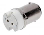 GU5.3/G4/GY6.35/GX5.3/GZ4 to BA15 Base Adapter
