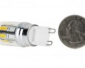 G9 LED Bulb - 20 Watt Equivalent - Bi-Pin LED Bulb: Back View