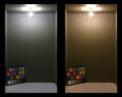 G9 LED Bulb - 20 Watt Equivalent - Bi-Pin LED Bulb: Cool White (On The Left) vs. Warm White (On The Right)