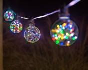 G30/G95 LED Fairy Light Bulbs - 48 Lumens - RGB colorway on String Light  LS10-E26