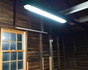 T8 LED Tube - Natural White 4000K - 32W Equivalent - Ballast Bypass/Ballast Compatible F32T8 - 2,100 Lumens: Installed in Garage