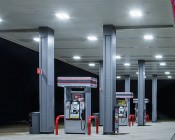 LED Canopy Lights - 60W - Natural White - Flush Mount or Surface Mount: Installed in Gas Station