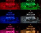 High Density RGB LED Strip Light - Flexible Custom Length LED Tape Light - 18 SMDs/ft. - 3 Chip SMD LED 5050: Shown On In Red, Green, Blue, White, Magenta, And Amber.