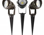 5 Watt Landscape LED Spotlight w/ Mounting Spike: Available in Black, Brown, & Light Brown