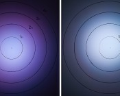 G-LUX series Color Changing 18W RGB LED Spot Light (left) Compared to G-LUX series 6W RGB LED Spot Light (right)