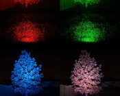 G-LUX series Color Changing 18W RGB LED Spot Light - Lighting Tree From 25 Feet Away